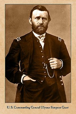 Civil War Vintage Photograph Union General Ulysses S. Grant Card Cdv