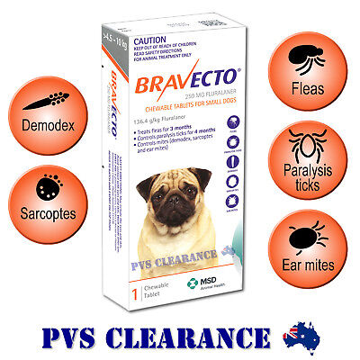 Bravecto for Small Dogs - Orange 4.5 - 10 kg - Single Chew - Flea & Tick