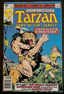 Tarzan #1 (1977 Marvel) *edgar Rice Burroughs* Vf-/vf