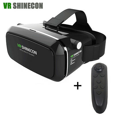 VR 3.0 SHINECON 3D Glasses Remote Control Virtual Reality Headset For Smartphone