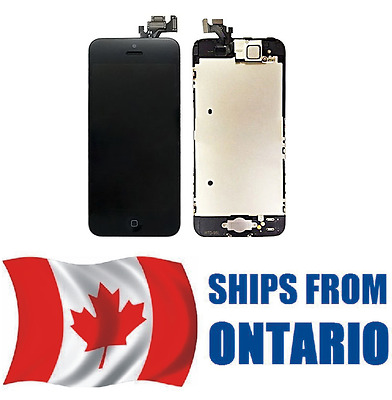 iPhone 5 Assembly Replacement LCD Screen Digitizer + Home Button & Camera BLACK