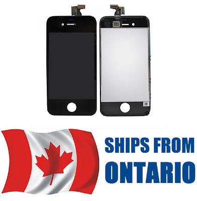 iPhone 4S Assembly Replacement LCD Screen Digitizer    BLACK      ONTARIO CANADA