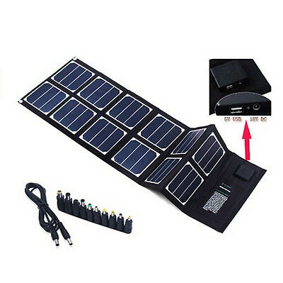 40W Solar Charger (5V USB + 18V DC) Portable Foldable Solar Panel Charger Pack