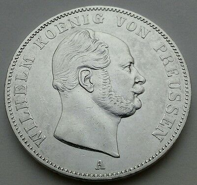 Prussia 1 Thaler 1862A, KM#489. ONE SILVER dollar coin. German States. UNC. MS.