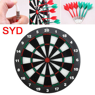 "18"" Safe Dart Board With 6 Soft Rubber Tip Darts For Kids Adults Game With Stand"