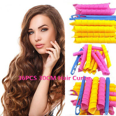 18/24/36/55  Magic Leverage Hair Curlers Tool Styling Rollers Spiral Circle Set