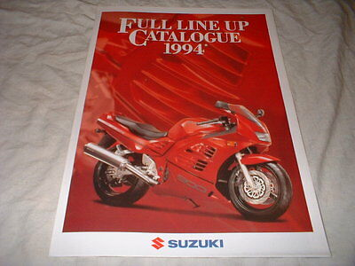 Brochure Catalogue Poster 1994 Moto  Gamme Suzuki    Prospectus 6 Pages