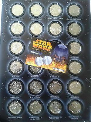 Star Wars Medalionz Revenge of the Sith - Complete set of 24 silver coins