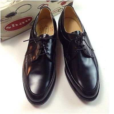 Vintage NOS Deadstock 1960s Mod Black Leather Pointy Toe Oxford Shoes 11 1/2D