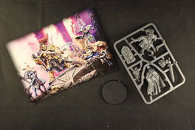 Warhammer Quest Silver Tower Knight-Questor miniature on sprue with card