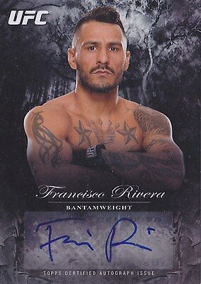Francisco Rivera (FA-FR) 2014 Topps UFC Bloodlines  Fighter Autograph 059/245.