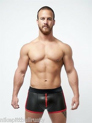 Neoprene Pouch Shorts Black Red Neopren Short NEU GAY s - XL