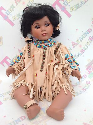 Native Red Indian American Porcelain Doll By Timeless Limited Edition 65/2500