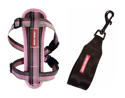 EZYDOG Candy Pink MEDIUM Chest Plate Harness With Seat Belt Loop - Free Delivery