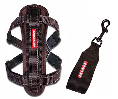 EZYDOG Choc Brown MEDIUM Chest Plate Harness With Seat Belt Loop - Free Delivery