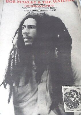"""Bob Marley & The Wailers  """"confrontation""""  From 1985 Full Page  Advert A3 Size"""