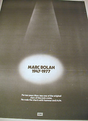"T.rex ""goodbye Marc"" Full Page Double Sided Epitaph For Marc Bolan  Sept. 1977"