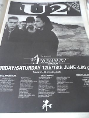 """U2 From 1987 """"the Joshua Tree Album Advert And Live Wembley Dates"""
