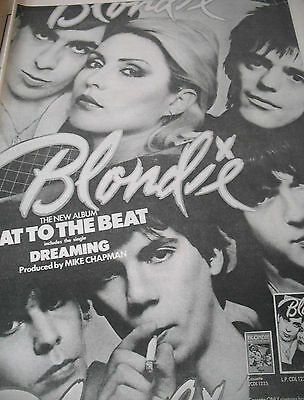 "Blondie Original  Album Advert From 1979 ""eat To The Beat"" A3 Size"