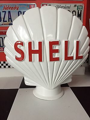 Shell Reproduction Vintage Petrol Pump Globe Classic Car Garage GRP