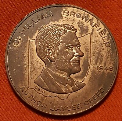 1946 Jaycee Creed William Brownfield Fraternal Medal Token Coin