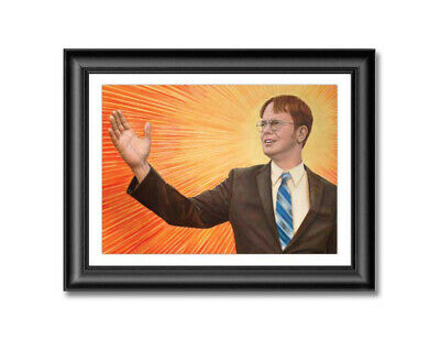 "Dwight Schrute Painting Reprint 13"" x 17"" The Office Dunder Mifflin +BONUS GIFTS"