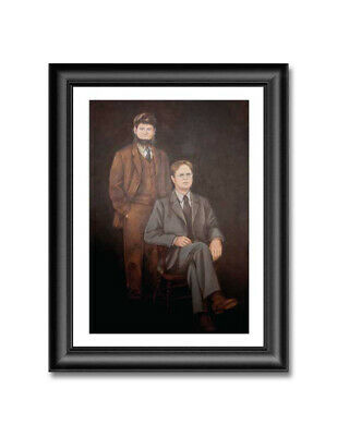 "Dwight & Mose Painting Reprint 19"" x 13"" The Office Dunder Mifflin +BONUS GIFTS"