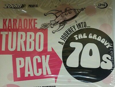 KARAOKE CDG DISCS   TURBO PACK  99  GOLDEN HITS from 70s    (SET  1 to 5)