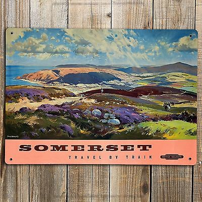 BRITISH RAIL  SOMERSET Poster Print On Metal Sign Vintage Railway Wall Plaque