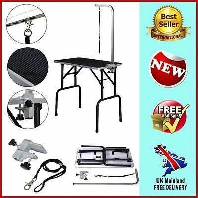 Professional Dog Grooming Table Portable Folding Station Cat Pet Adjustable Arm