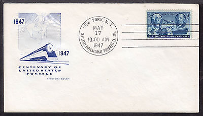 1947 NEW YORK, NY., #947 3c on STAMP CENTENARY FIRST DAY CACHET