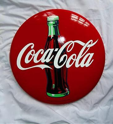 Brand New Reproduction Collectable Metal Coca Cola Button Sign
