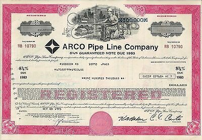 8  3/8% Arco Pipe Line Company 1975, Guaranteed Note due 1983 (100.000 $)