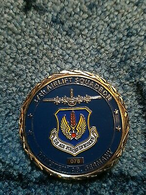 us challenge coin 37th air lift squadron