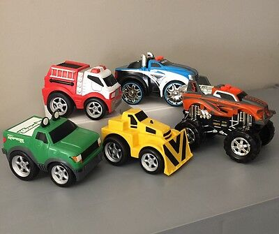 Boys Toys Lot of 5 Cars and Trucks w/ one Road Ripper Scratch it