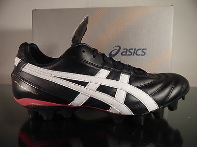 ASICS LETHAL TESTIMONIAL IT CLASSIC SOCCER LEATHER BLACK/WHITE Men's US Sizes