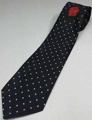 Rose Croix polkadot Tie with Logo 100% Silk Made