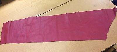 Thick Red Piece Of Genuine Leather, Quality Genuine Leather