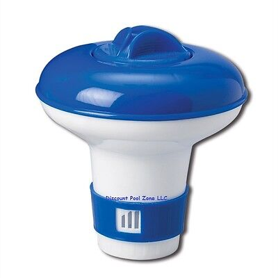 Small Floating Chlorine Tablet Dispenser for Swimming Pools or Spas  Blue/ White