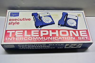 1974 Vintage Sears Executive Style Toy Intercommunication Telephone Set