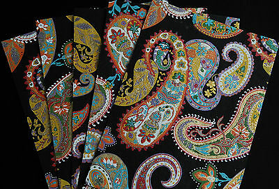 Indian Paper ~ Black Paisley~ 5 x A4 Sheets ~ Cardmaking, Wedding Invites, Craft