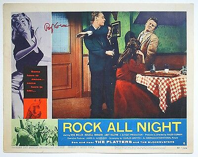 Orig 1957 Lobby Card ROCK ALL NIGHT Authentic Hand Signed AUTOGRAPH ROGER CORMAN