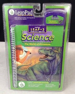 "NEW LeapPad: Leap 3 Science ""The World of Dinosaurs"" Interactive Book Cartridge"