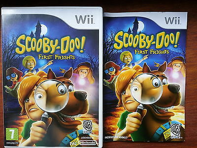 SCOOBY-DOO FIRST FRIGHTS - MANUAL & CASE ONLY for Nintendo Wii - NO GAME DISC