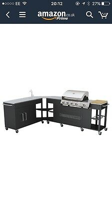 New Gas Bbq Barbecue Outdoor Kitchen Stainless Steel 4 Burners