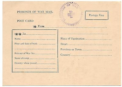 Pakistan POW Post card Mint hard to Find Very Rare only few known in Pakistan