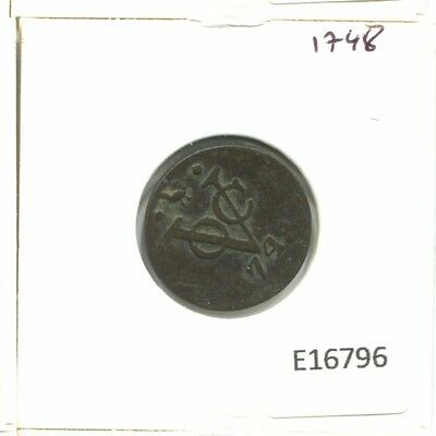 1748 West Friesland Voc Duit Netherlands Indies New York Colonial Penny E16796.7