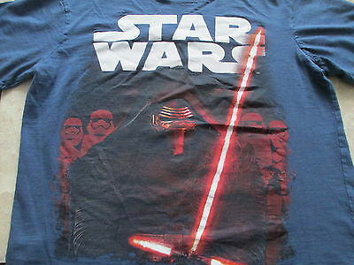 Star Wars The Force Awakens Blue Red White Kylo Ren T Shirt S Small M Medium