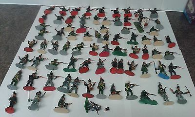 large joblot of 54mm painted napoleonic soldiers 1/32 customised toy soldiers