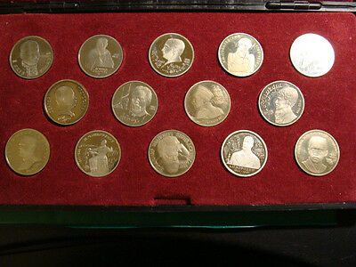Russia Proof Coins Commemorative  One Ruble In Box Total Of 14 Lot#5
